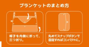 ケープ畳み方の画像