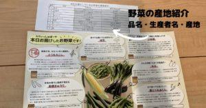 野菜の産地紹介の画像